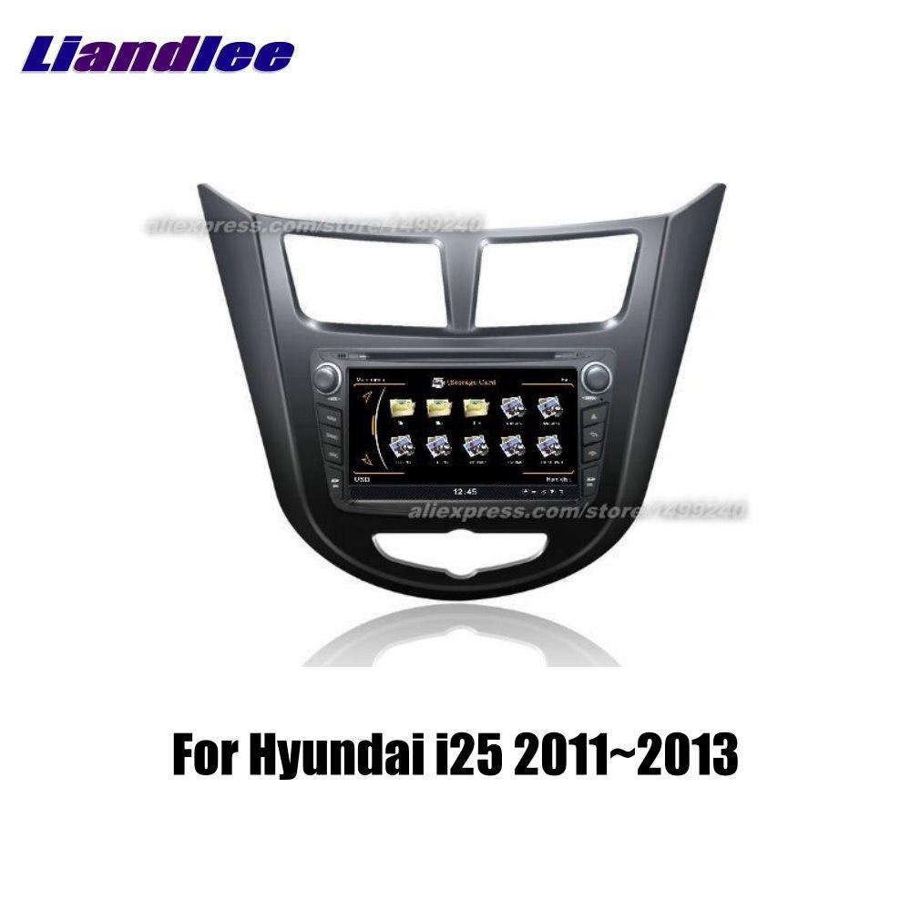 Voiture stéréo Radio AM FM CD lecteur DVD pour Hyundai i25 2011 2012 2013 GPS Android multimédia lecteur de Navigation HD système d'écran