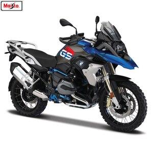 Maisto 1:18 BMW R1200GS Silvardo original authorized simulation alloy motorcycle model toy car(China)