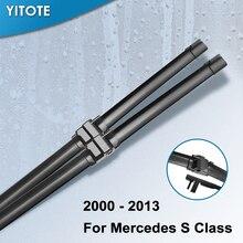 YITOTE стеклоочистителей для Mercedes Benz S Class W220 W221 S250 S280 S300 S320 S350 S400 S420 S430 S450 S500 S600 S55 S63 AMG интерактивного компакт-диска