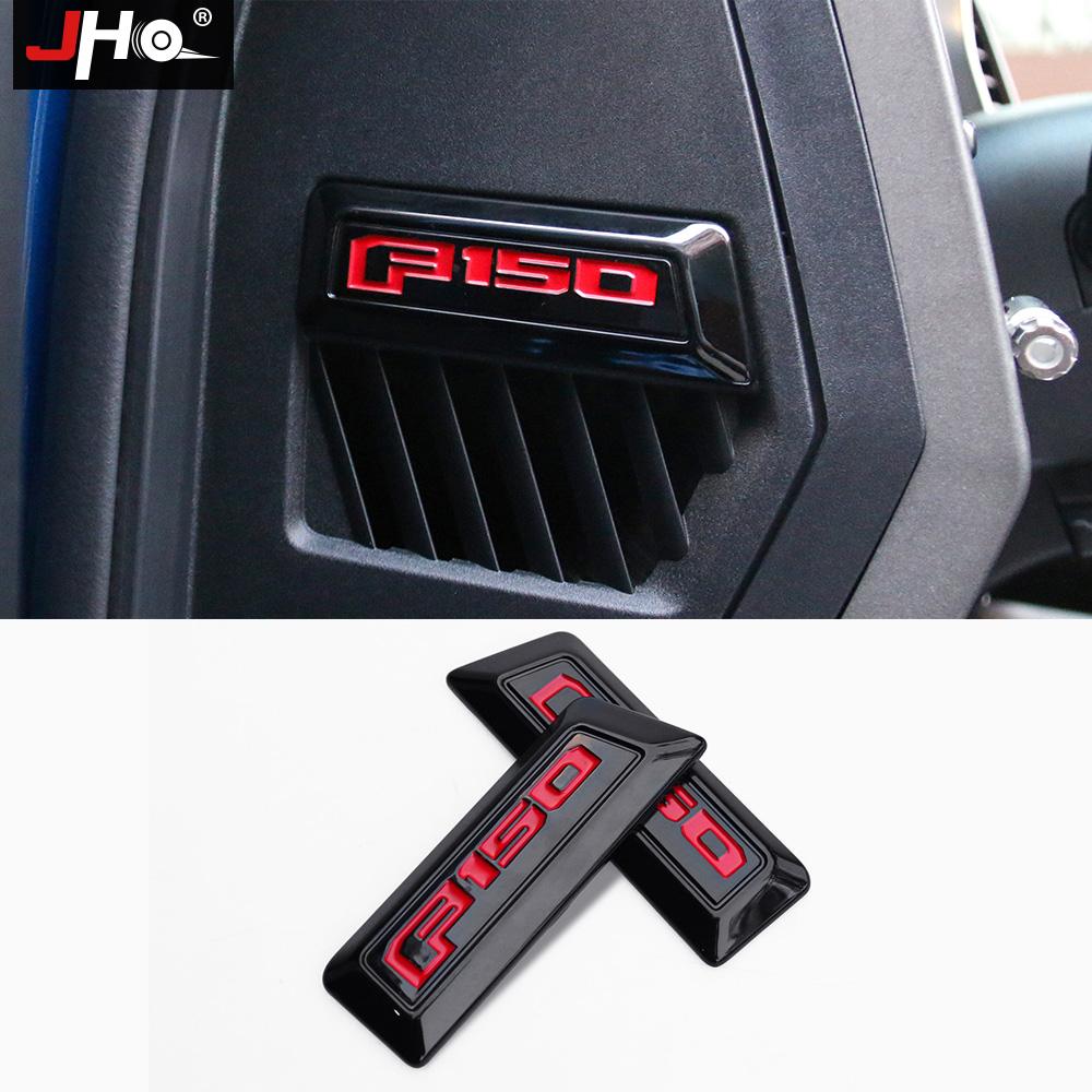 hight resolution of jho 2pcs inner door dashboard side logo frame cover trim stickers for ford f150 raptor 2016 2017 18 interior pickup accessories in interior mouldings from