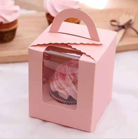 Free shipping 20 pcs lot cheap pink cupcake box for for Application box decoration