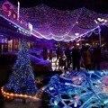 100 M 600 Luces LED de Colores Decorativos de La Boda de Hadas Del Partido Del Árbol de Navidad Del Centelleo Del cordón de Iluminación UE Enchufe Decoración Del Jardín