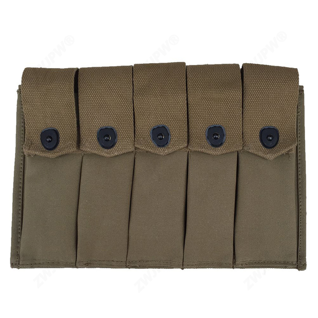 ww2 us army usmc thompson 5 cell magazine pouch us ammo pouch us
