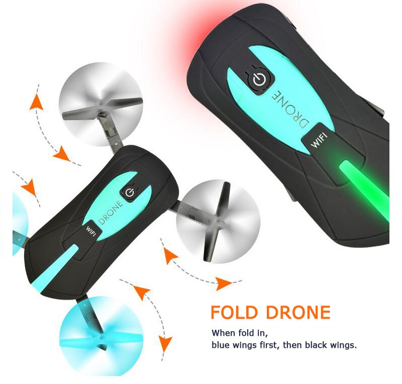 Quadcopter JY018 WIFI Foldable Mini Drone with Camera RC Helicopter Drones (14)