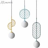 Malphite lamp Nordic pendant light simple modern bar Cafe creative restaurant pendant lamp macarons Leaf hanging light fixtures