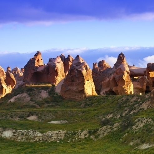Fairy Chimney Rock Formations In Goreme National Park  Cappadocia  Anatolia  Nevsehir Province  Turkey Print (42 x 20)
