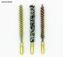 3 sztuk/zestaw zestaw do czyszczenia pistoletu. 22 kaliber karabin pistolet szczotka do czyszczenia brąz fosforowy. 223 Cal./5.56mm taktyczne polowanie na pistolet