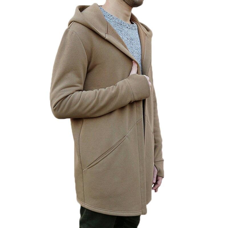 HTB1zkD6X2vsK1RjSspdq6AZepXae Winter Autumn Stylish Men Long Casual Hooded Trench Coat Male Loose Hoody Cardigan Jacket Outerwear Overcoat Plus Size 3XL