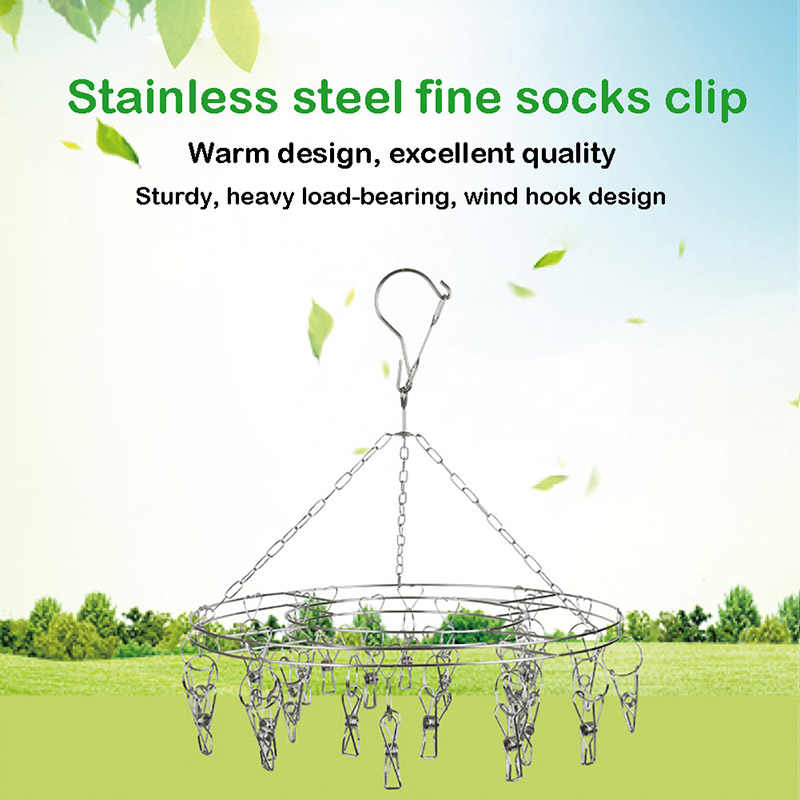 Stainless Steel Clothespins Hanging Clothing Laundry Drying Racks  Clothesline