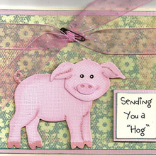 Gowing Merry Christmas New Year Cute Pink Pig