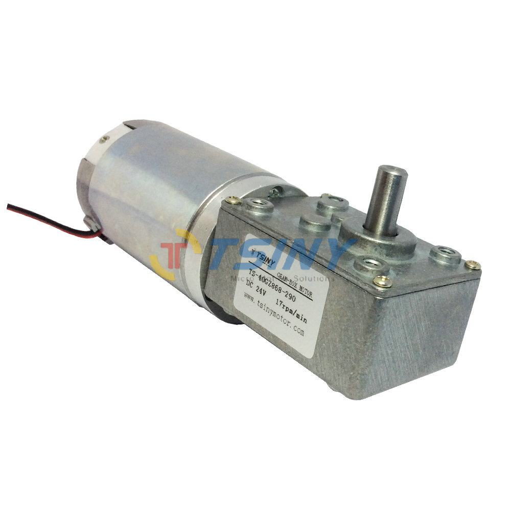 DC 24V 17rpm High torque Worm Reducer Geared Motor with Gearbox,electric planetary motor, DIY Robot Driver Parts dc 24v 70rpm gearbox motor for vending machine rectangle geared motor free shipping