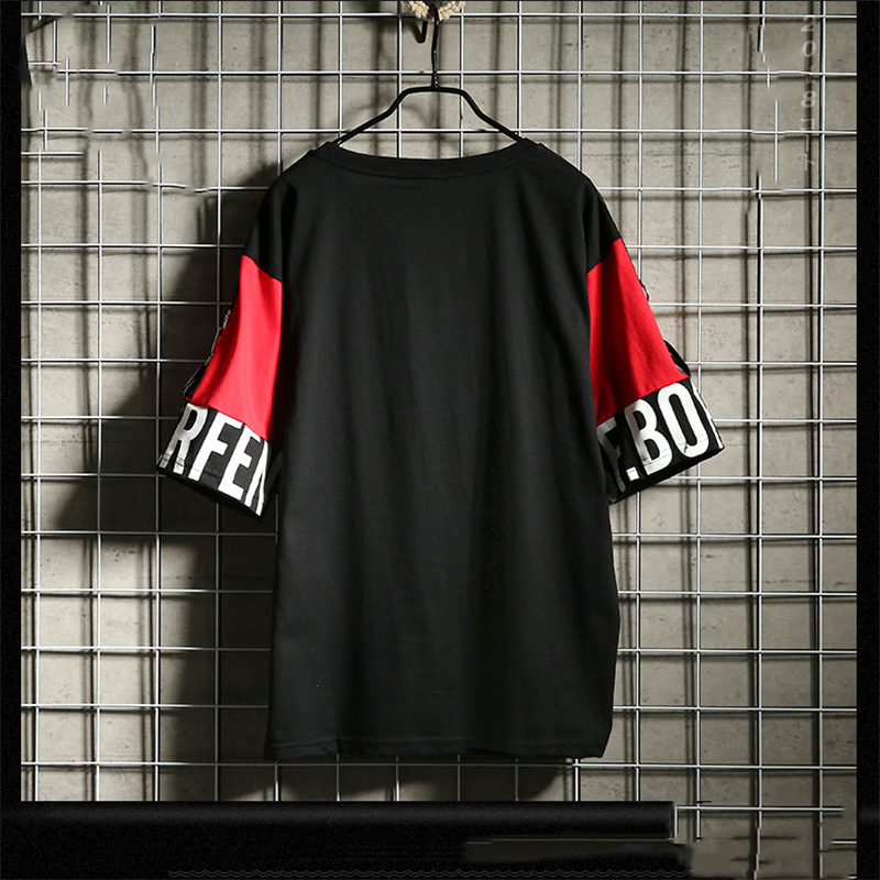 Hip Hop T Shirt Harajuku Streetwear Man's T-shirt Korean Half Anime Shirt Teen Clothes Black Shirt Free gift 5