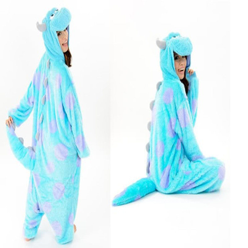 6756d8a9ae4b Adult Animal Onesie Monster s Sully Dinosaur Onesies Halloween Clothing  Animal Cosplay Costume Women Pajamas For Performance
