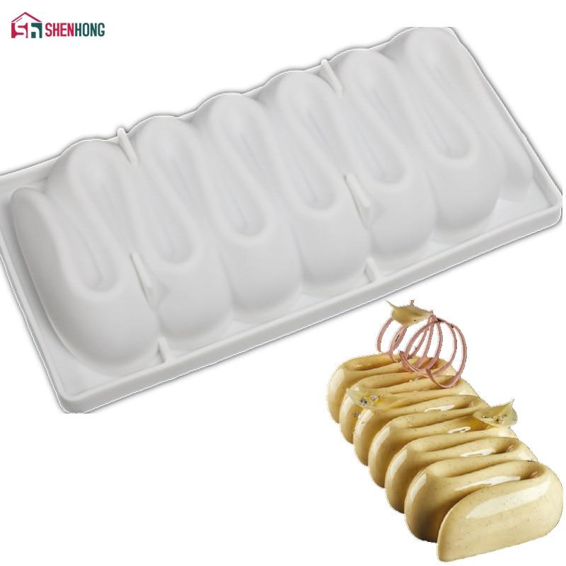 Shenhong изделий из крем в форме 3D формы силиконовые формы для украшения торта Инструменты для выпечки шоколадный мусс десертов формы торты Пан