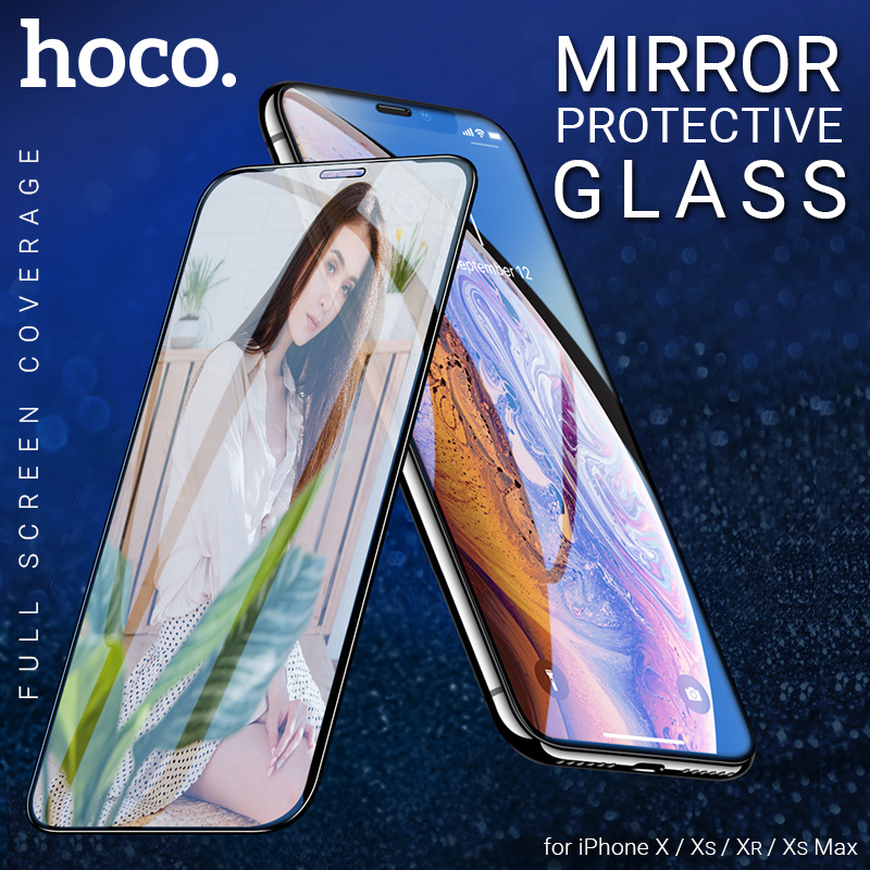 hoco tempered glass for iphone X XR XS max mirror screen protector smartphone protection phone protective film
