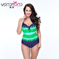 One Piece Swimsuit Plus Size Swimwear Women Print Monokini Bathing Suit High Cut Trikini Swimming Suit