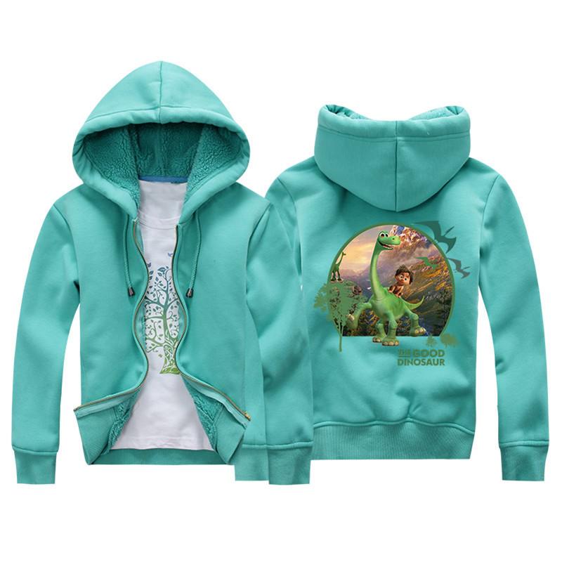 Jiuhehall 3-7 yrs Children Jackets 2016 New Winter Dinosaur Berber Fleece Coats Kids Thicken Warm Hooded Zipper Outwear JCM017 (3)
