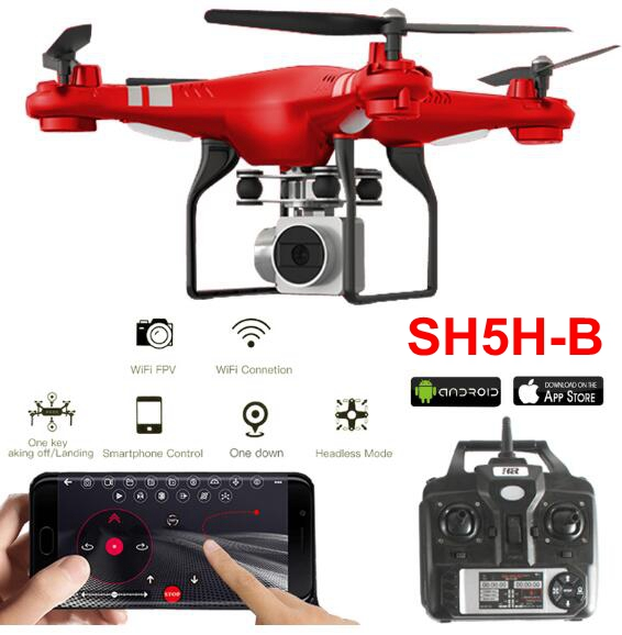 Upgrade SH5H-B 1800mah Big Lipo Battery RC Drone Quadcopter Helicopter Wifi FPV Wide Angle 1080P Camera 4CH Altitude Hold RTF remote control charging helicopter