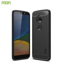 MOFi For Moto E5 Case Cover Soft Back Phone Carbon Fiber TPU Shockproof Cases