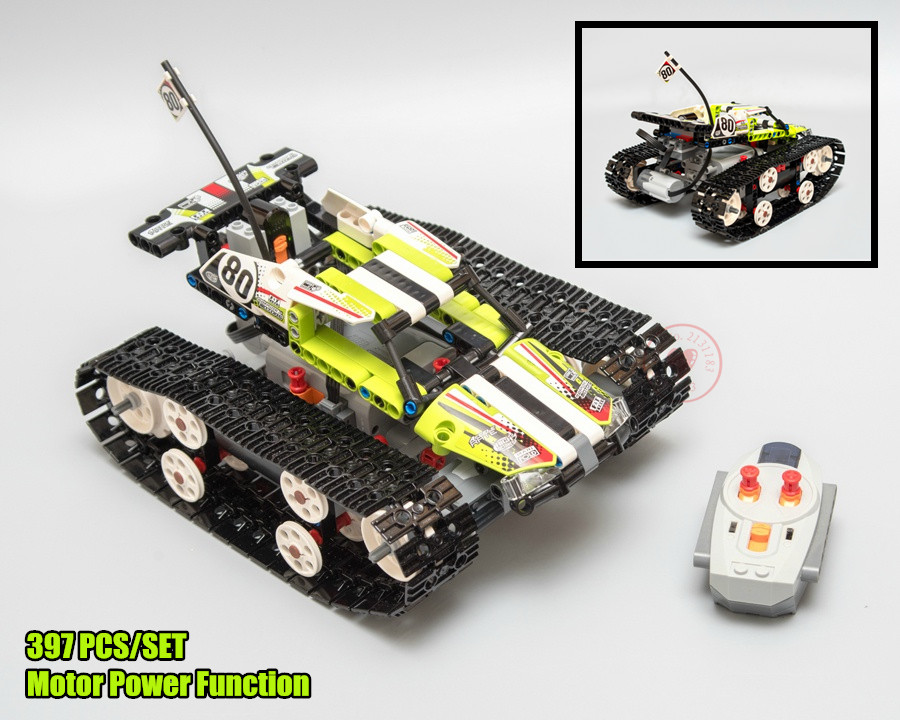 New RC TRACKED RACER CAR Electric Motor Power Function fit legoings technic 42065 city Building Block bricks Model toys kid gift