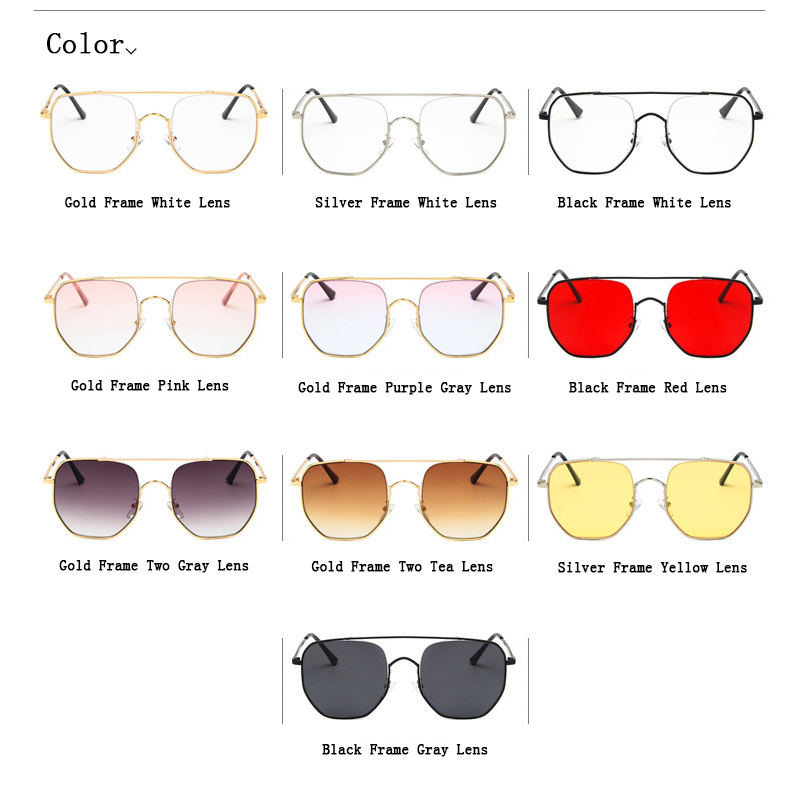 New 2018 Fashion Vintage Hollow Out Sunglasses For Men Women Spectacles Square big Frame Optical Glasses Polygon Oculos Gafas K8 in Men 39 s Sunglasses from Apparel Accessories