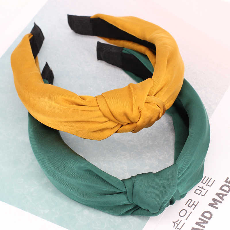 Твердая скрученная завязанная повязка на голову для женщин леди крест резинки для волос широкая эластичная повязка женский обруч для волос головные уборы аксессуары для волос