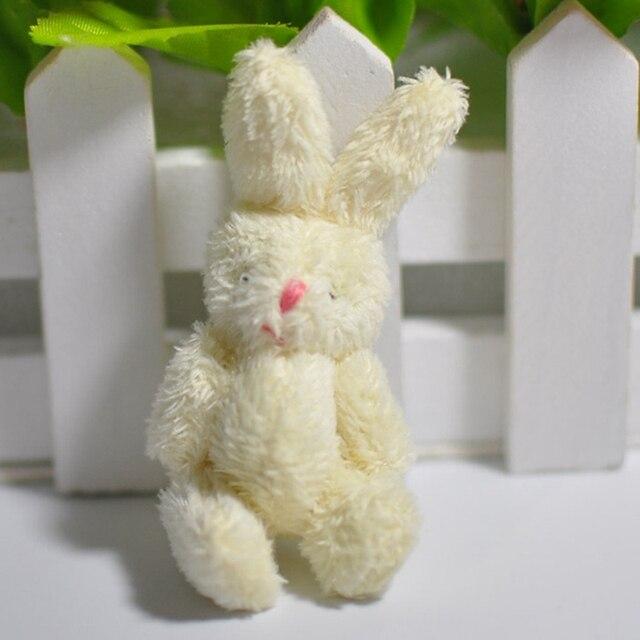 1 Pcs Mini 6CM Joint Rabbit Little Plush Stuffed Toy Doll Garment & Hair Accessories Decor Plush Toys For Children