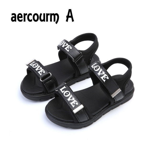 Aercourm A Children  s Shoes 2017 Summer Boys Girls Sandals Casual Shoes  Black White Red 2856f2149a4c