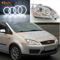 For Ford Focus C Max 2003 2004 2005 2006 2007 Halogen headlight Excellent Ultra bright smd led Angel Eyes kit DRL