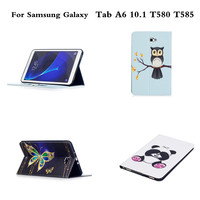 Painted PU Leather Stand Case For Galaxy Tab A6 SM T580 T585 Tablet Carry Case For