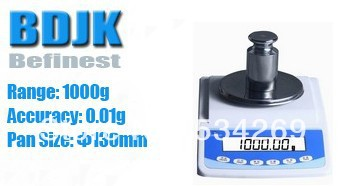 1000g Electronic Balance Measuring Scale Balance with LCD Counting and Weight Balance 0.01g Scale 1000g
