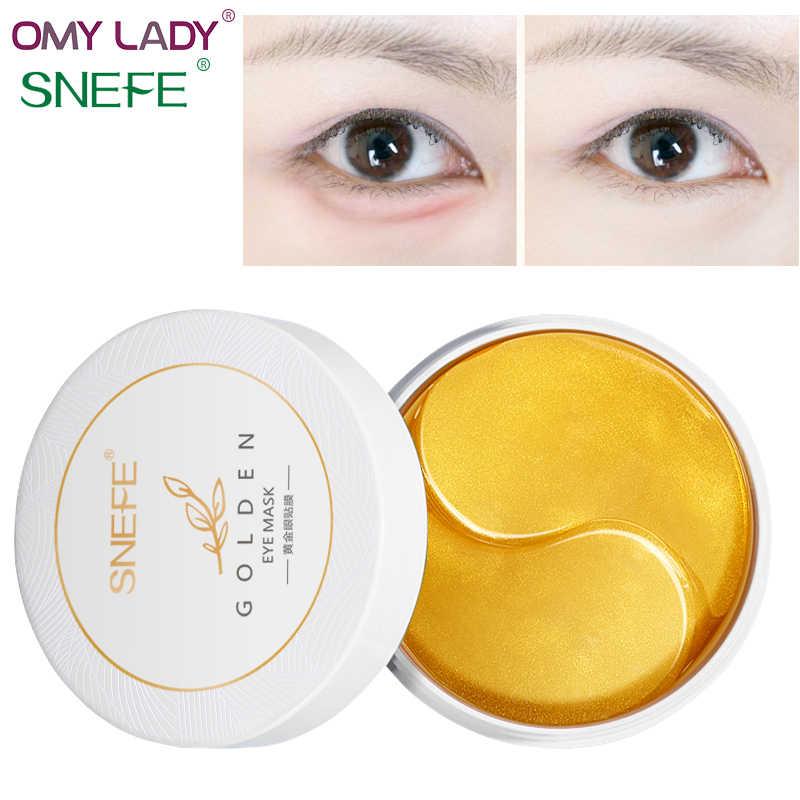 OMY LADY SNEFE Коллаген Золотая маска для глаз опреснение темный круг затянуть глаза средство для ухода за кожей под глазами решение снять усталость жир капсула