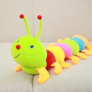 Разноцветная мягкая хлопковая игрушечная гусеница Inchworm, Детская кукла, подарок на день рождения