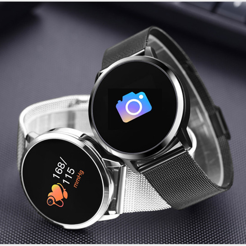 LYKRY Q8 Smart Watch Fashion Fitness Tracker Heart Rate Monitor OLED Color Screen Smartwatch Men Women For IOS Android Watch