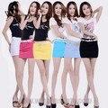 WomensDate 2016 Meninas do Verão calças de Brim Algodão Doce Cor Mini Lápis Saias Jeans Hip Saias Das Mulheres Plus Size Saia Jeans Curta