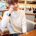 El Nuevo 2017 de Corea Del Suéter Que Hace Punto de la Cachemira de Cuello alto con Gruesas Sueltas Render Suéter Ropa Superior Sin Forro de la Mujer