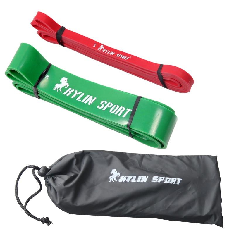 Kostenloser Versand Set mit 2 roten und grünen 2015 neuen Pilates-Kombinationsbändern aus billigerem Naturlatex mit einer Stärke von 41 Zoll