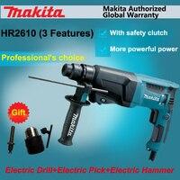 Япония Makita HR2610 Ударная дрель + Электрический Хамм + Электрический Палочки 3 функции Мощность инструменты Мощность ful 800 Вт двигателя 4, 600ipm 1200