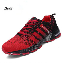 High Quality  Men Shoes Causal Fly Weave Fashion Flat  Shoes Men Trainers Breathable Light Soft Men Flats