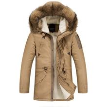 2017 New Long Thick Resistance Minus 30 Degrees Winter Jacket Men Slim Fur Hooded Parka Men Jacket 878