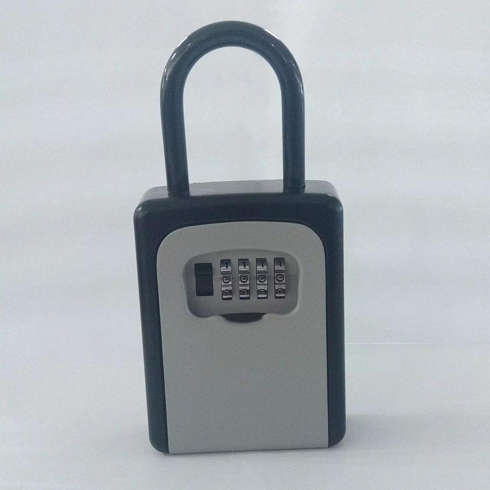 HOT 4-Digit Combination Lock Key Safe Storage Box Padlock Security Home Outdoor Supplies BUS66