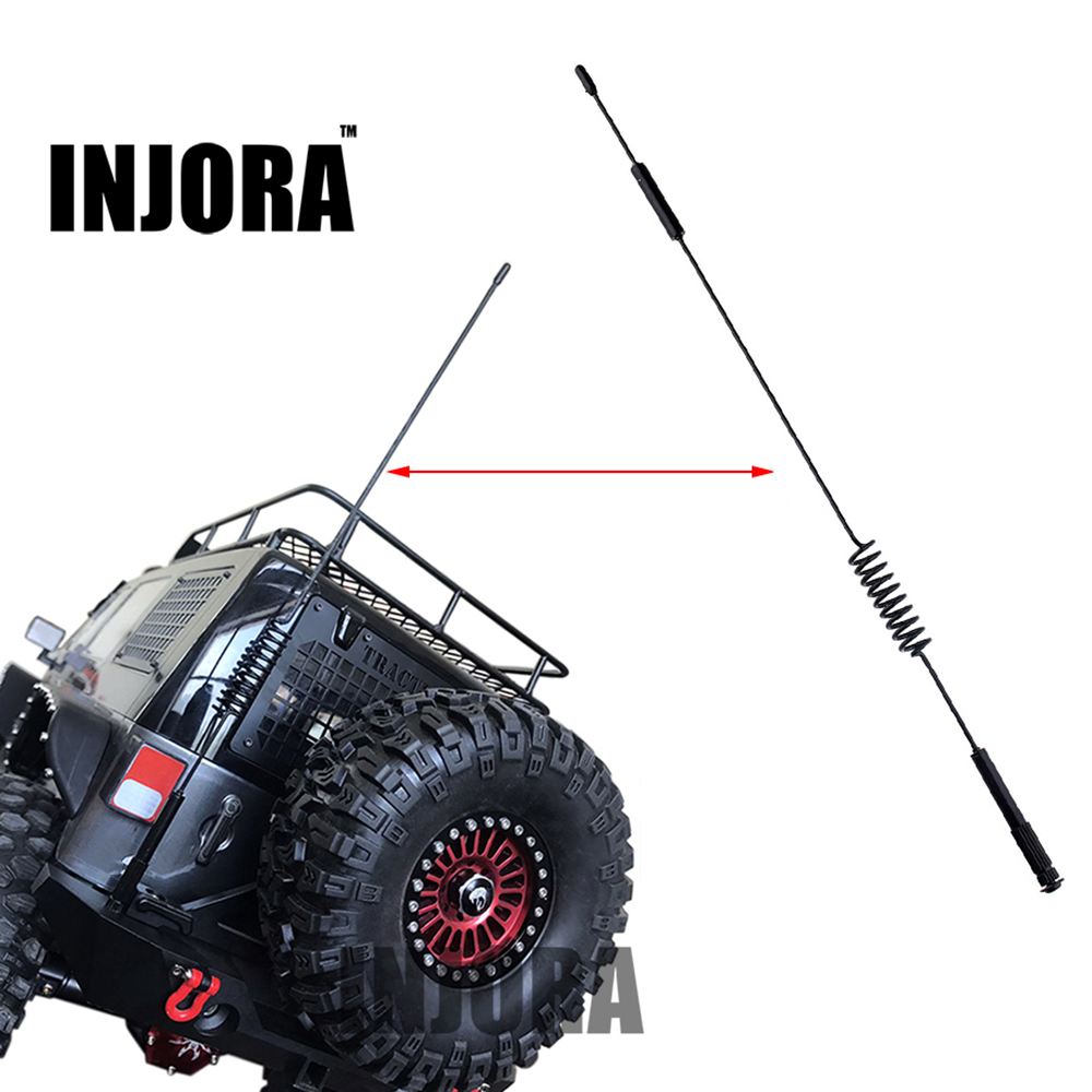 289MM Metal Decorative Antenna for 1:10 RC Crawler Axial SCX10 90046 Traxxas TRX-4 TRX4 D90 D110 Tamiya CC01 1pc land rover logo sticker for 1 10 rc crawler rc4wd d90 d110 traxxas trx4 trx 4