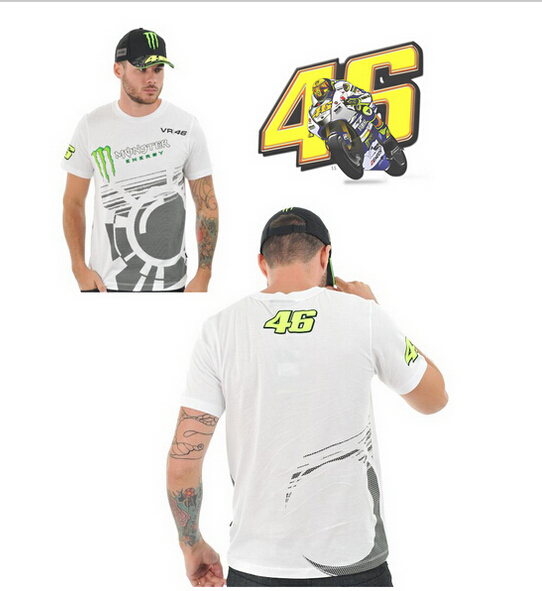 Free Shipping 2014 Latest Racing casual short-sleeved MOTO GP VR46 Motorcycle T-shirt Sweat wicking quick-drying shirt 09