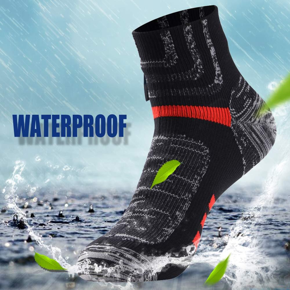 RANDY SUN Ankle Waterproof Sports Socks Breathable Windproof SGS Certified Outdoor Hiking Climbing Fishing Cycling Socks 1 PairCycling Socks   -
