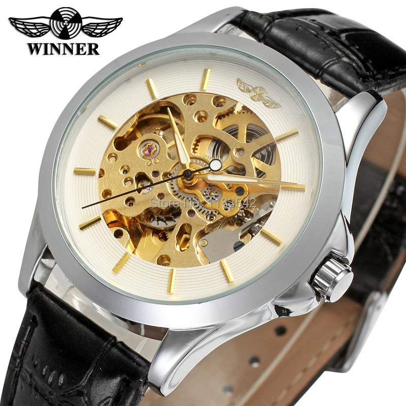 Vencedor homens relógio moda relógios homens homens relógio de ouro relógio de pulso de alta qualidade automático WRG8034M3S6