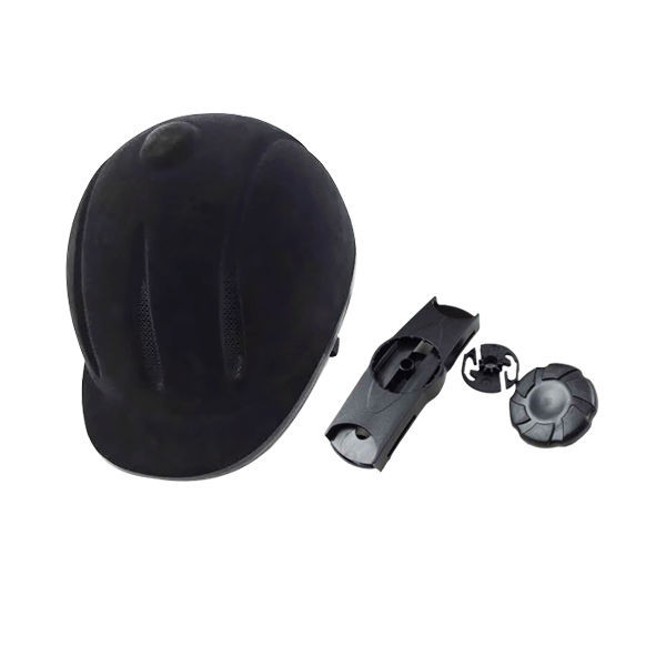 2018 Equestrian sports equipments flocking horse riding adjustable helmets noble and elegance