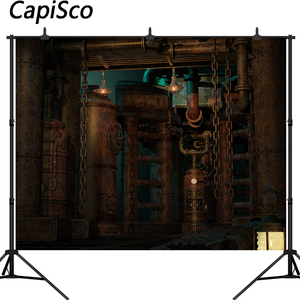 Capisco Vinyl Backgrounds For Photo Studio Photography Backdrops Steampunk Technological Craft Style Mechanical vintage factory