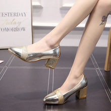 86bb8f925 New Sweet & Elegante Estilo Versátil Sapatos de Espessura com sapatos Fundo  Macio das Mulheres Apontou Boca Rasa Sapatos Único S..