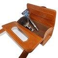 3 Цветов Ручной Бритва Портативный Кисти Для Бритья Путешествия Кожаная Сумка Для 2-edge Безопасных Бритв Box
