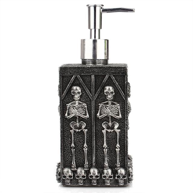 1pc Skull Shower Gel Dispenser Bottle Liquid Soap Dispenser Pump Hand Sanitizer Shampoo Lotion Bottle with Dispenser 450ml 3